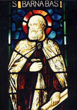 St. Barnabas in stained glass