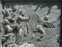 Jesus sends demon away