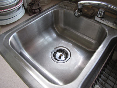 clean stainless steel sink