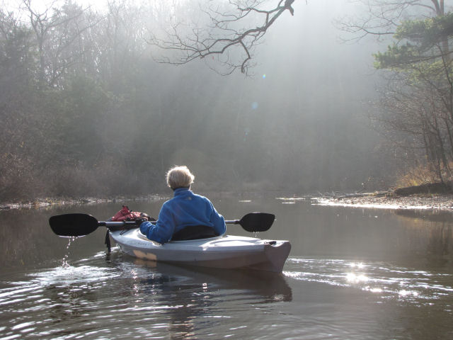 kayaker in sun
